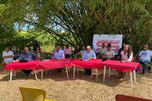 Raymond Otto, Ruddy Manin, Eric Coriolan et Ericka Sennoaj, liste Sentinelles Guadeloupe.