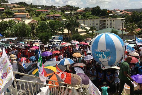 Manifestation devant le rectorat