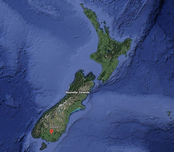 Carte de Gore, Nouvelle-Zélande