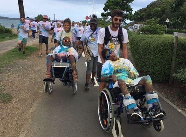 Quatrième Rainbow race, enfants handicapés de la maison Gabriel-Poëdi et association de La Foa (24 mars 2018)