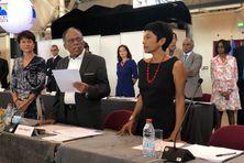 Ericka Bareigts prend ses fonctions de maire de Saint-Denis, ce samedi.