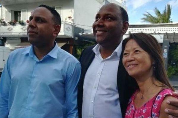 Pierrick Robert Thierry Robert et Marie-Rose Won-Fah-Hin, dépôt candidature élection législative partielle.