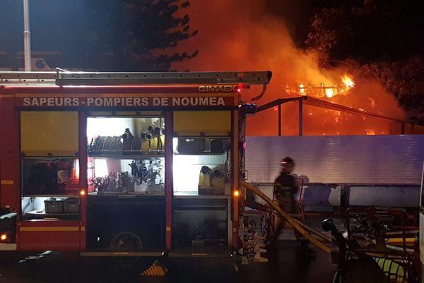Incendie au CNC, piscine, Cercle des nageurs calédoniens, 28 juillet 2020