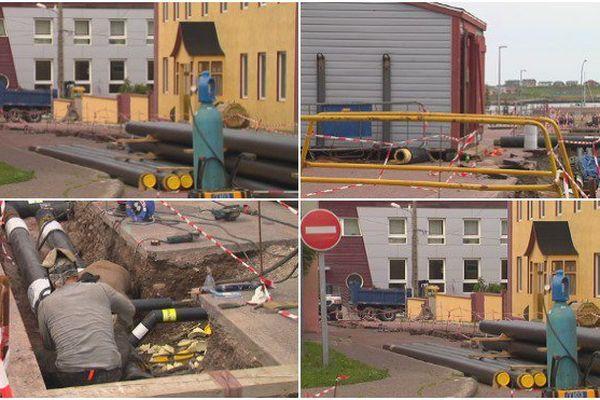 Les travaux sur le réseau de chaleur en cours dans le centre ville de Saint-Pierre