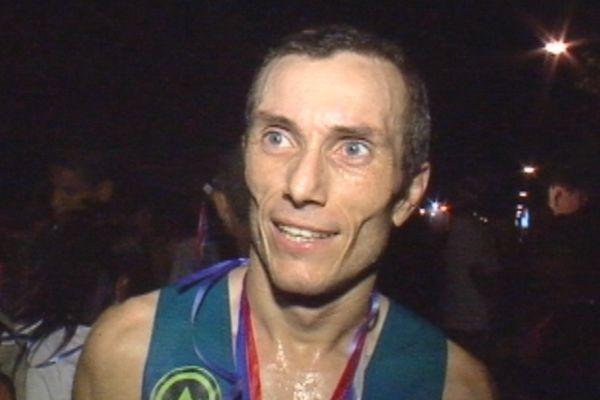 David Dupuy, vainqueur des 10 kms nocturnes de Saint-Denis