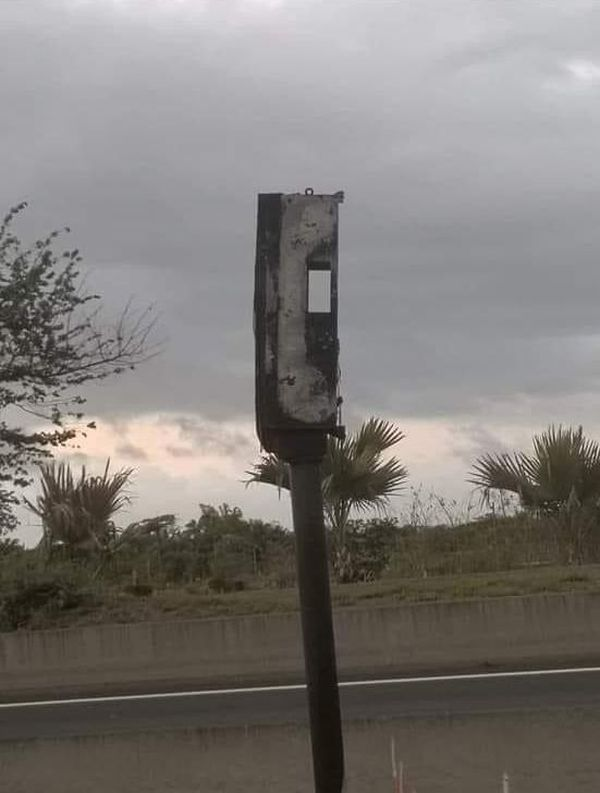 Le radar tourelle de Pierrefonds incendié