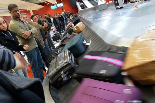 Illustration aéroport bagages