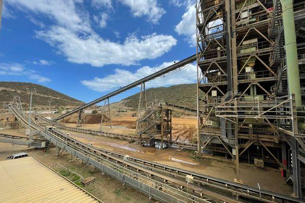 A l'usine de traitement de Tiébaghi, à Koumac, septembre 2021. SLN