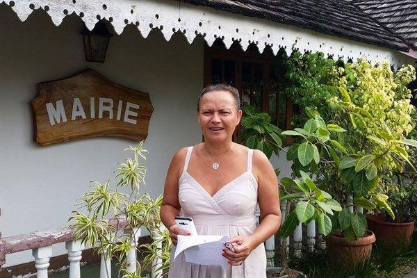 Christelle Lehartel, maire de Papara