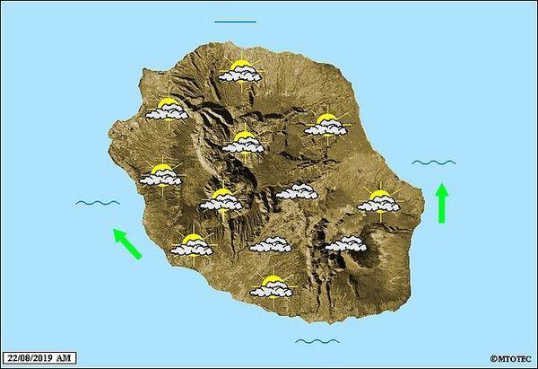 Carte météo 22 août 2019