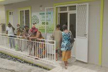 La maison de la solidarité et de l'action sociale dans le bourg de Rivière Pilote.