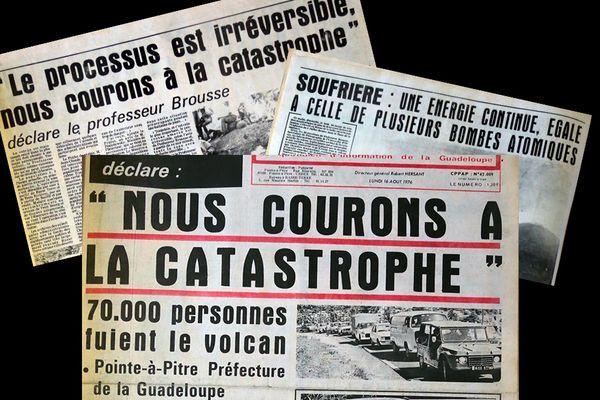 Articles de presse suite à l'explosion du 9 août 1976 - vos photos notre histoire Soufrière Guadeloupe