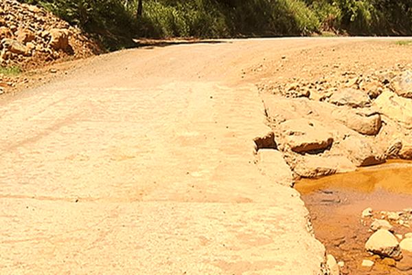 Le creek réparé, janvier 2014