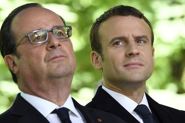 Hollande et Macron 10 mai