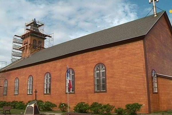 Travaux clocher église Miquelon