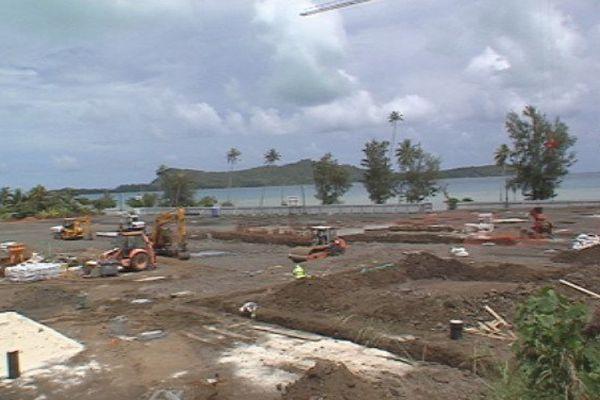 Le nouveau collège de Bora Bora sort de terre