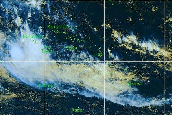 Observation satellite de la Polynésie le 22/04/16 à 9h00