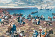 Le Grand Dérangement acadien :  fresque historique de l'artiste-peintre Claude Picard