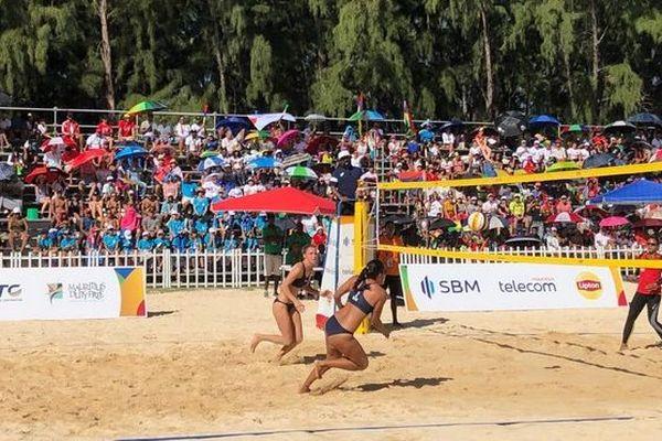JIOI 2019 : beach volley médaille d'or réunionnaises face aux mauriciennes 210719