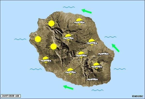 Carte météo 24 juillet 2020