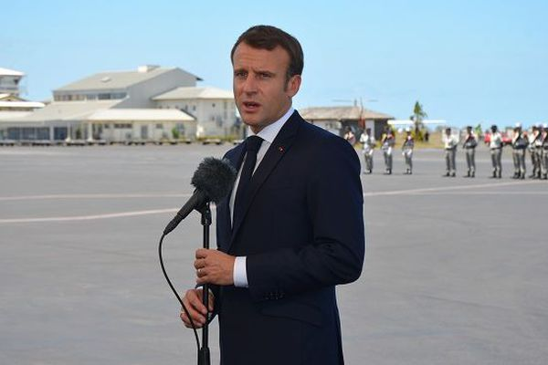Emmanuel Macron est arrivé à Mayotte, mardi 22 octobre.