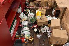 Le saccage de la boutique de la distillerie JM à Macouba.