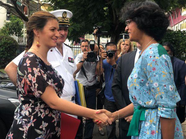 La première étape de la visite de Marlène Schiappa est consacrée à l'égalité professionnelle entre les femmes et les hommes.