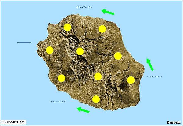 Carte météo 12 mai 2021