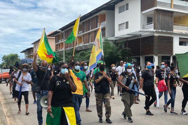Marche contre l'insécurité à Kourou