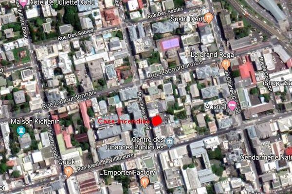 Case incendiée rue Labourdonnais