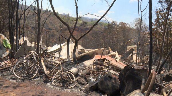 Feu de la Coulée, cabane brûlée, 1er décembre 2019