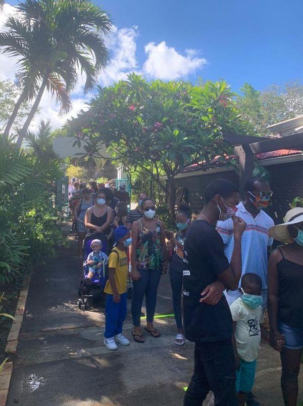 Visiteurs réouverture Jardin botanique