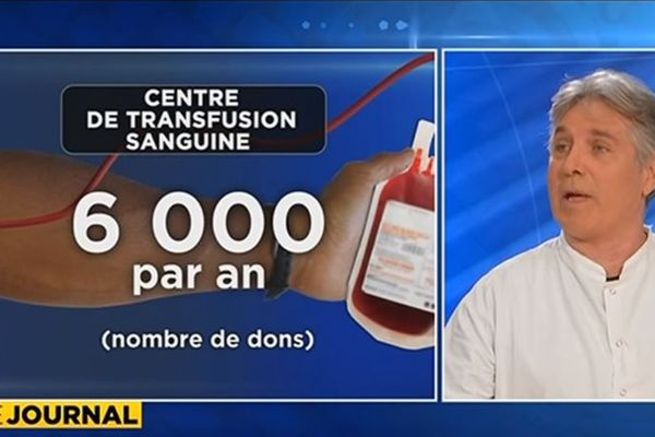 Dr Broult, chef de service du Centre de transfusion sanguine