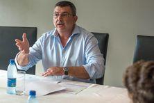 Philippe Germain présentant les conséquences de la TGC, le 21 mars.