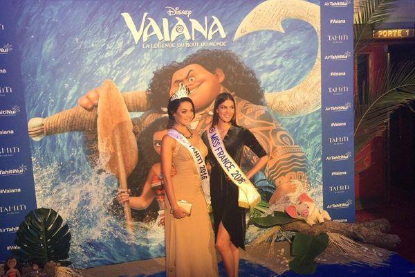 Vaea Ferrand à l'avant-première de Vaiana à Paris