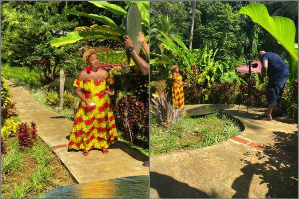 Tournage clip Jessica Martin en Guadeloupe