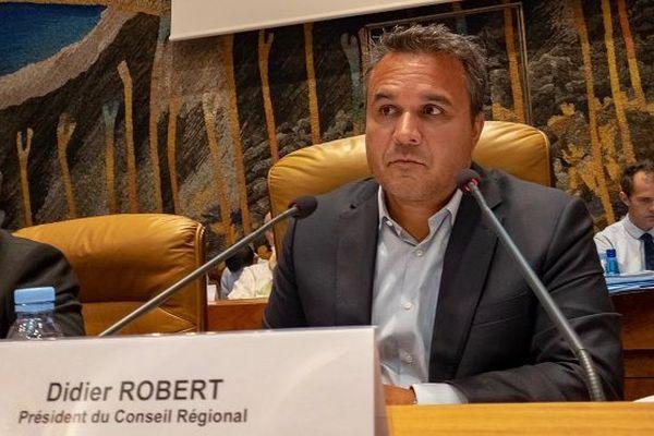 Didier Robert, président du Conseil Régional lors de l'assemblée plénière, lundi 5 novembre 2018.