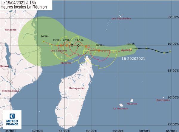 trajectoire 16eme systeme tropical de la saison 190421