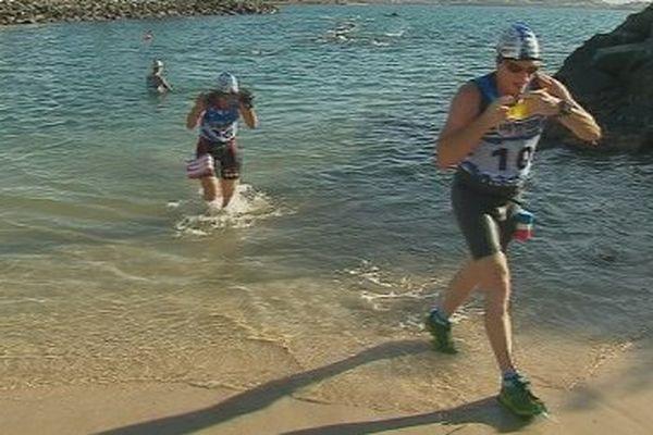 Etape du premier swim and run à Nouméa Côte Blanche (29 juillet 2017)