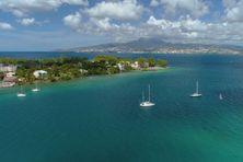 Vue aérienne de la Martinique.