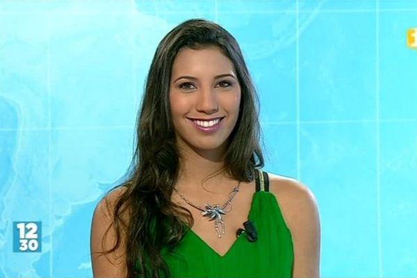 Miss Réunion : Victoria Rieffel, candidate N°1, dans le journal de la mi-journée