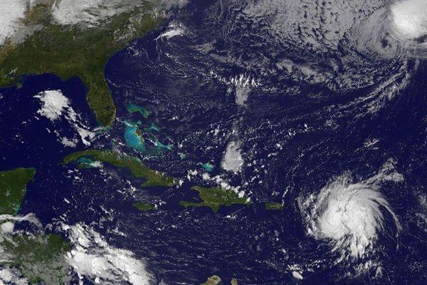Le cyclone Gonzalo le 13 octobre 2014