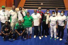 Les membres de l'amicale des supporters de l'As Saint-Etienne en Martinique.