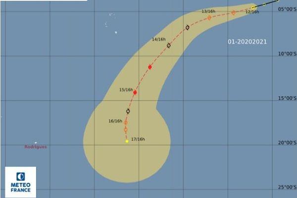 La première perturbation tropicale est à 3900 km de La Réunion.