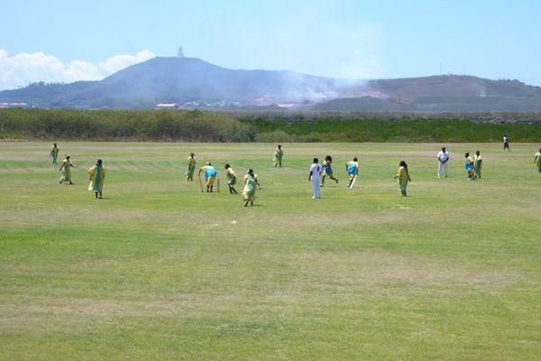 Joueurs de cricket à Nouméa