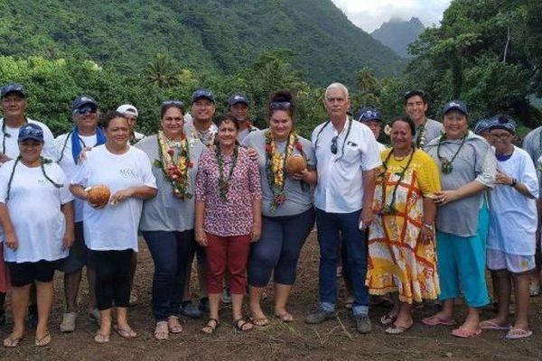 Le jury a effectué un tour de l'île pour visiter les communes les plus accueillantes