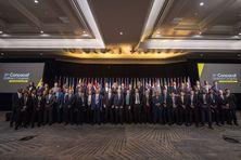 Les membres des délégations de la CONCACAF en congrès à Miami