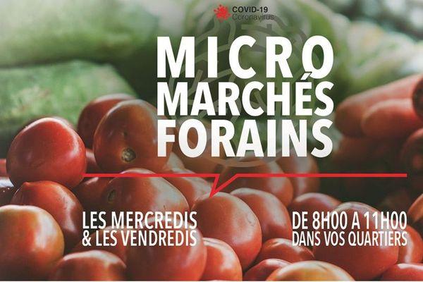 Micro-marchés à Saint-Denis: 1er jour