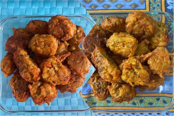 Accras / légumes et crevettes / vendredi saint