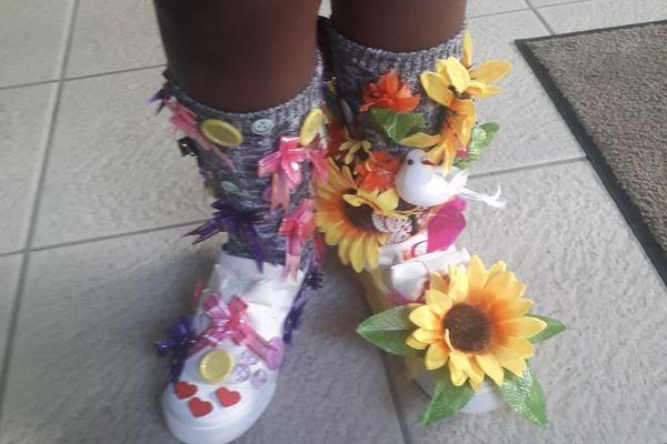 """""""Crazy Shoes Day"""" fleurs"""